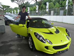 Jaz Lai and his Lotus car